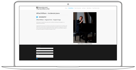 Creative Website for Musicians and Artists - Web a Way, WordPress Web Design Services Thailand