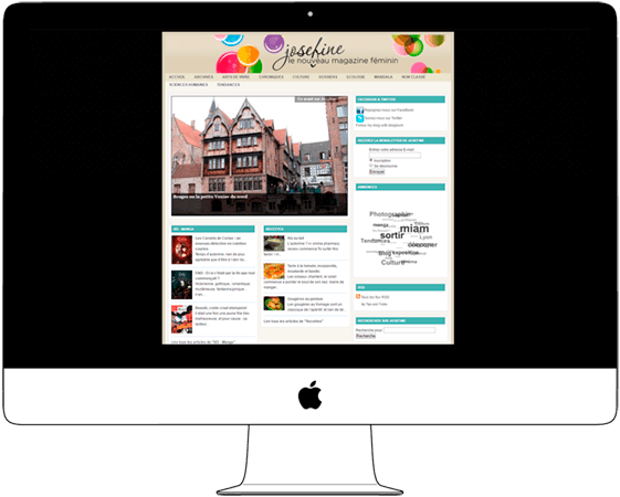 Creative Website, Girls' Online Magazine - Web a Way, Inspirational Web Design