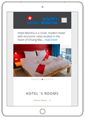 WordPress Responsive Multilanguage Website for Hotel - Web a Way, Chiang Mai Web Development