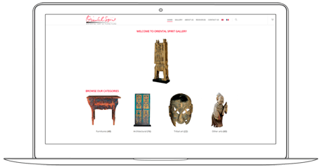 E-commerce Solution for Antiques Shop - Web a Way, Website Design Agency Thailand