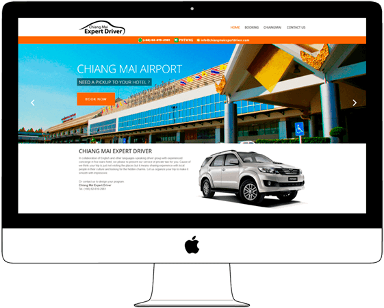 Website for Taxi and Driver Company - Web a Way, Chiang Mai Web Design Solutions