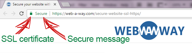 Secure your website with SSL HTTPS - Web a Way - Security services